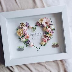 Mahar by Lavana Wedding Dried Flowers, Paper Flowers, Button Art On Canvas, Pop Up Frame, Diy And Crafts, Paper Crafts, Shadow Box Art, Creative Embroidery, Handmade Frames