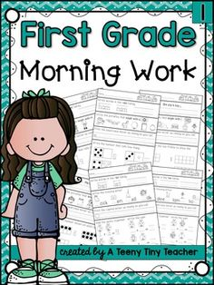 First Grade Morning WorkThis pack contains 3 months of printables that can be used as Morning Work, Homework, or as an Assessment. Language Arts and Math are reviewed on a daily basis and support the Common Core State Standards.