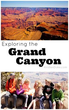 Exploring the Grand Canyon - fun family vacation to the South Rim. Best Family Vacations, Vacation Places, Vacation Trips, Vacation Spots, Family Travel, Places To Travel, Grand Canyon Vacation, Oh The Places You'll Go, Places To Visit