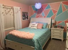 Down-to-earth teen girl bedrooms inspiration for one impressive teen girl bedroom decor, pin info 7242179472 Bedroom Design For Teen Girls, Preteen Bedroom, Girl Bedroom Designs, Teen Girl Bedrooms, Preteen Girls Rooms, Bedroom Wall Ideas For Teens, Teen Bedroom Colors, Blue Bedrooms, Girl Rooms
