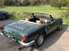 vwcampervan-aldridge:    Triumph Spitfire Mk3, 1969, British racing green. Taken at Cannock Chase, Staffordshire.