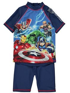 156e7ff81e9eb Marvel Avengers Swimsuit Sun Protection Set UV40+, read reviews and buy  online at George at ASDA. Shop from our latest range in Kids.