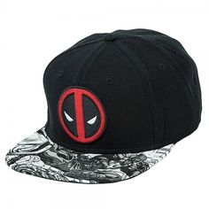 a7a6af9d023 This black acrylic wool Marvel Deadpool Logo Sublimated Bill Snapback is  perfect for your off days as a merc with a mouth. An embroidered Deadpool  logo ...