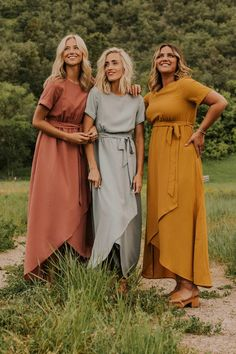 Modest wrap maxi comes in multiple colors and sizes (petite and plus sizing available). Shop more modest trendy dresses at our Utah based boutique, ROOLEE!Informations About Taylor Jane Wrap Maxi PinYou can easily Modest Maxi Dress, Maxi Wrap Dress, The Dress, Dress Skirt, Cute Maxi Dress, Dress Lace, Dress Pants, Beautiful Bridesmaid Dresses, Modest Bridesmaid Dresses