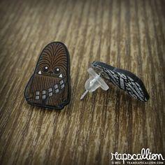 Chewbacca Inspired Acrylic Earrings by rapscalliondesign on Etsy