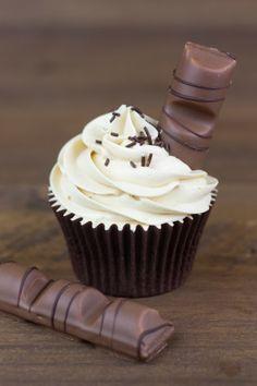 Objetivo: Cupcake Perfecto.: Cupcakes de Kinder Bueno. Receta en español.