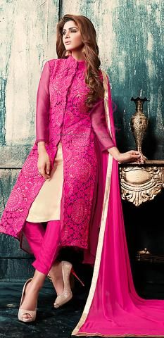 Achkan Salwar Suit Pink Georgette Semi Stitch Dress BZ5034D76878