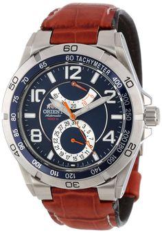 Orient Men's CFM00005D Power Reserve Semi-Skeleton Blue Automatic Watch 258