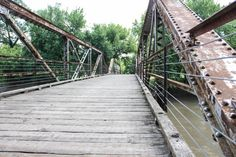 Wooden And Metal Walking And Bike Bridge Over by RedHedgePhotos, $9.99 #etsy #etsyshop #handmade #photography #art #etsyseller