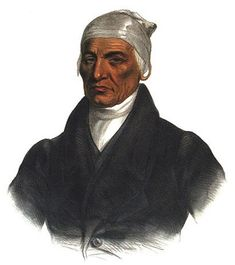 Chief Black Hoof of the Shawnee was a staunch opponent of Tecumseh's confederation & an ally of the United States in the War of 1812.