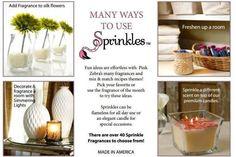 so many uses!  I ♥ Pink Zebra Sprinkles    http://www.pinkzebrahome.com/ksquared