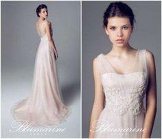 Abiti da sposa rosa 2014 - Vestito da sposa in voile Blumarine 2014