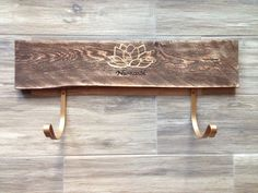 Yoga mat holder horizontal yoga rack rustic by IAECreations