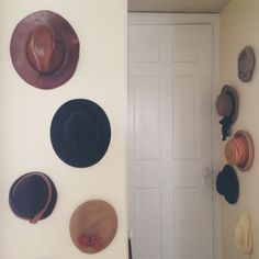 """All of my vintage hats decking the halls = a """"hat way"""". That makes me smile every time I say it! :)"""