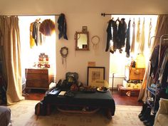 old suitcases and dream catchers give this room an instant worldly feel