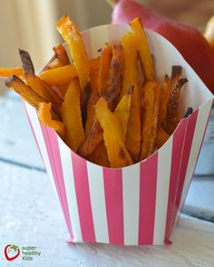 My kids love these butternut squash fries. They are a little salty and a little sweet!