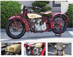 """Gorgeous 1931 Indian 101 Restoration by Walker Machine. Was in the Guggenheim traveling exhibit """"Art of the Motorcycle""""."""