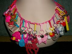80s Bell Charm Necklace by TinkrGems on Etsy