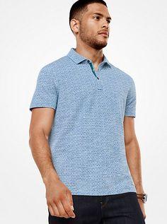 Dot Cotton Polo Shirt