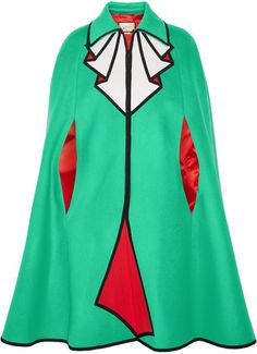 Gucci - Printed Wool-felt Cape - Light green | #Chic Only #Glamour Always