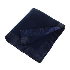 Bring beautifully soft textures to the home with this Duchess blanket from John Atkinson by Hainsworth. Made from 100% merino wool, this deep navy blanket is plain in design and has a matching satin e