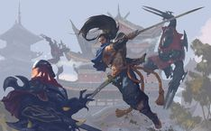 League of Legends - Yasuo and Zed, Song Nan Li Lol League Of Legends, League Of Legends Yasuo, Champions League Of Legends, League Of Legends Characters, Overwatch, Character Art, Character Design, Funny Games, Animes Wallpapers