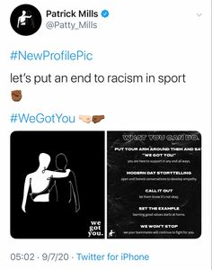 What You Can Do, You Got This, Let It Be, Racism In Sport, New Profile Pic, Athletes, Storytelling, Positivity, Social Media