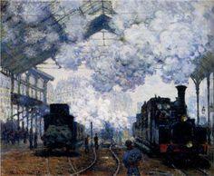 Saint-Lazare Station, Exterior, 1876, Claude Monet