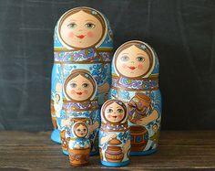 Russian matryoshka babushka russian nesting doll 5 от nordfolk