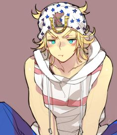 Johnny is prolly the cutest jojo. I have no idea who the artist is if anyone knows please let me know Jojo's Bizarre Adventure Anime, Johnny Joestar, Jojo's Adventure, Jojo Parts, Bizarre Art, Fanarts Anime, Jojo Memes, Vocaloid, Character Art