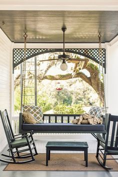 Lived a dream here one afternoon in April... porch swing + rocking chairs: Greyfield Inn, Cumberland Island, GA