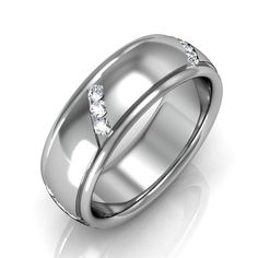Mens Wedding Band with Diamonds http://karatjewelrygroup.com/
