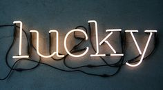 Lucky Neon Light | 10 Ways to Add Neon Signs to Your Decor