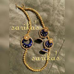 For reference only Silk Thread Jumkas, Silk Thread Bangles Design, Silk Thread Necklace, Silk Bangles, Beaded Necklace Patterns, Thread Jewellery, Jewelry Patterns, Beaded Jewelry, Bangle Set