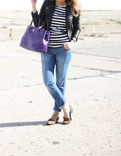 print mixing - stripes + leopard ~ Lilly Style