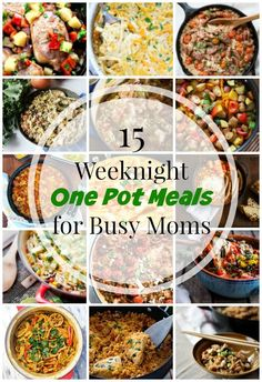 15 hearty and delicious one pot meals to feed your family with the least amount of effort! Skip take out and make a nutritious meal at home in no time!