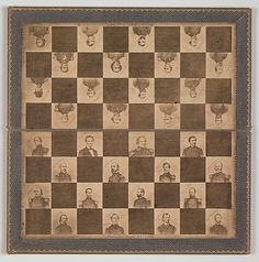 Game Board with Portraits of President Abraham Lincoln and Union Generals, 1862
