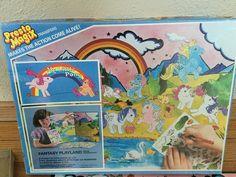 Vintage 1984 Presto Magix My Little Pony Fantasy Playland Transfer Play Set | eBay