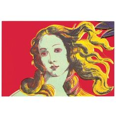 2000 Andy Warhol Birth of Venus Red Poster (240 BRL) ❤ liked on Polyvore featuring home, home decor, wall art, posters, red home accessories, red wall art, red home decor, andy warhol poster and andy warhol