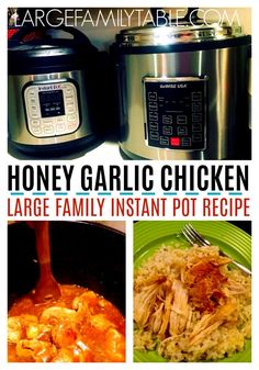 Honey Garlic Chicken is amazing and super easy with this instant pot recipe! A meal the family will enjoy! Planning Menu, Family Meal Planning, Easy Baked Chicken, Baked Chicken Recipes, Recipe Chicken, Instant Pot Pressure Cooker, Pressure Cooker Recipes, Slow Cooker, Honey Recipes