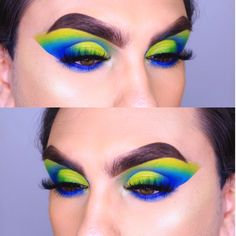 Makeup Art, Eye Makeup, Cut Crease Eye, Full Face Makeup, Watercolor Tattoo, Makeup Looks, Eyeshadow, Photo And Video, Videos