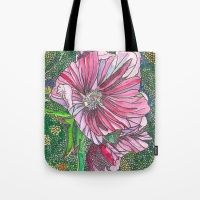 Design your everyday with bags you'll love for errands, shopping or the beach, featuring stylish designs from independent artists worldwide. Pink Flowers, Reusable Tote Bags, Pink Blossom