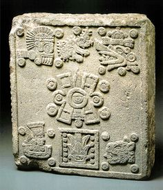 Coronation Stone of Moctezuma II.  Stone of the five suns