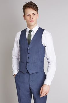 Larger plus size mens suits and formal clothes, up to size 60 chest. Chose from various 2 or 3 piece styles in black, blue or grey with extra long sleeves and wider leg trousers. Blue Suit Jacket, Blue Trousers, Slim Fit Trousers, Suit Vest, Slim Fit Suits, Slim Fit Jackets, Light Blue Suit, Dkny Mens, Fitted Suit