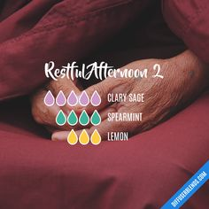 Restful Afternoon 2 Essential Oils Diffuser Blend ••• Buy dōTERRA essential oils online at www.mydoterra.com/suzysholar, or contact me suzy.sholar@gmail.com for more info.