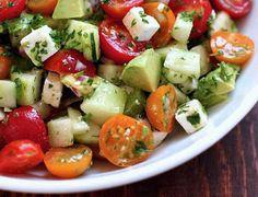Salade fraîcheur tomate et avocat