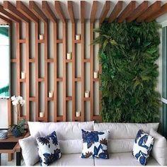 O Jardim vertical (ou parede verde) está presente em paredes internas e/ou ex… en 2020 Small Bathroom Paint Colors, Spa Interior Design, Wall Design, House Design, Vertical Garden Design, Backyard Landscaping, Modern Design, Home And Garden, Yellow Walls