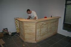 DIY home bar. Definitely necessary!