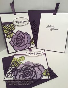 Purple Rose by Diane Malcor - Cards and Paper Crafts at Splitcoaststampers