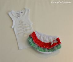 Christmas Ruffle Nappy Cover Set - Size 0000 (C18) | Kathryn's Creations | madeit.com.au